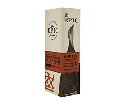 Epic 100% Natural Turkey Cranberry & Sage Steak Strip, 0.8 Ounce (Pack of 10)
