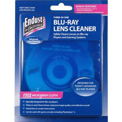 Endust for Electronics, CD/DVD/Blu-Ray Disc Lens Cleaner, Microfiber towel included, Dust removal