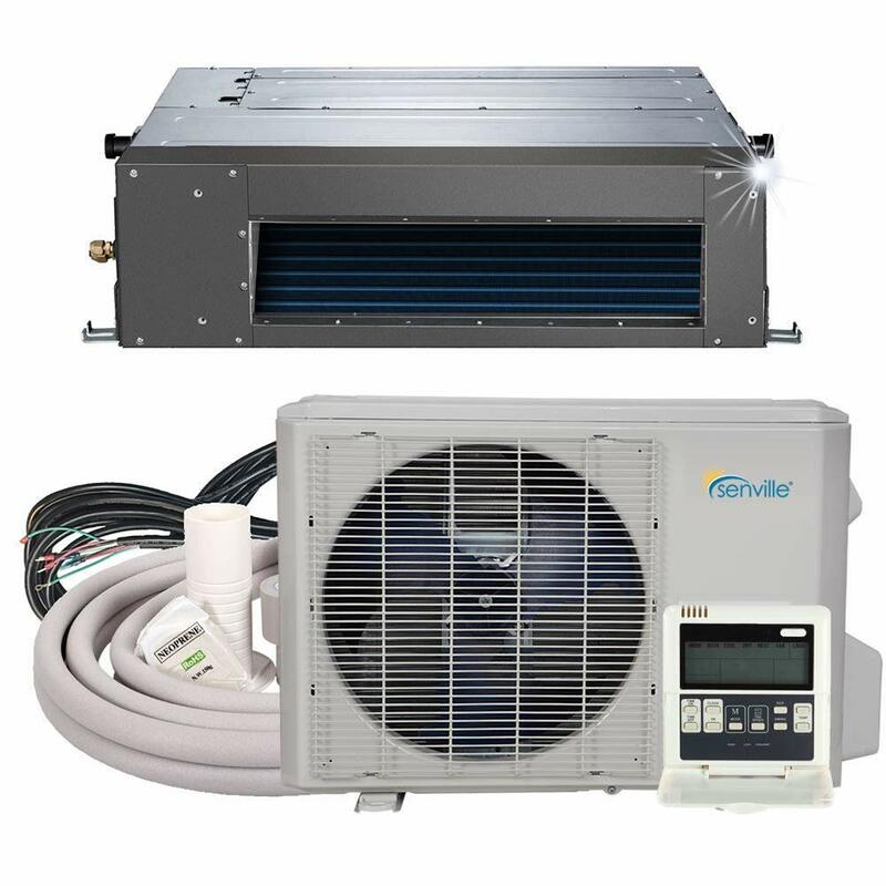 Senville 12000 BTU Concealed Duct Mini Split Air Conditioner Heat Pump SENA-12HF/ID