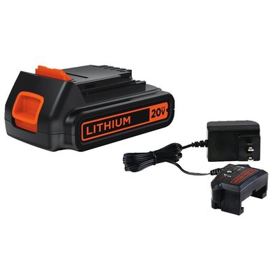 BLACK+DECKER LBXR20CK 20V Max Lihtium Ion Battery + Charger