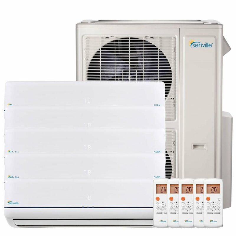 Senville 48000 BTU Five Zone Mini Split Air Conditioner Heat Pump SENA-48HF/F