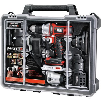 BLACK+DECKER BDCDMT1206KITC Matrix 6 Tool Combo Kit with Case