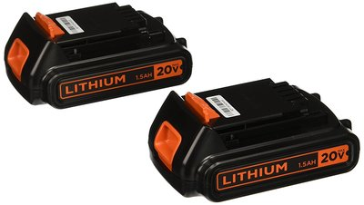 BLACK+DECKER LBXR20B-2 20V MAX Lithium Battery, 2-Pack