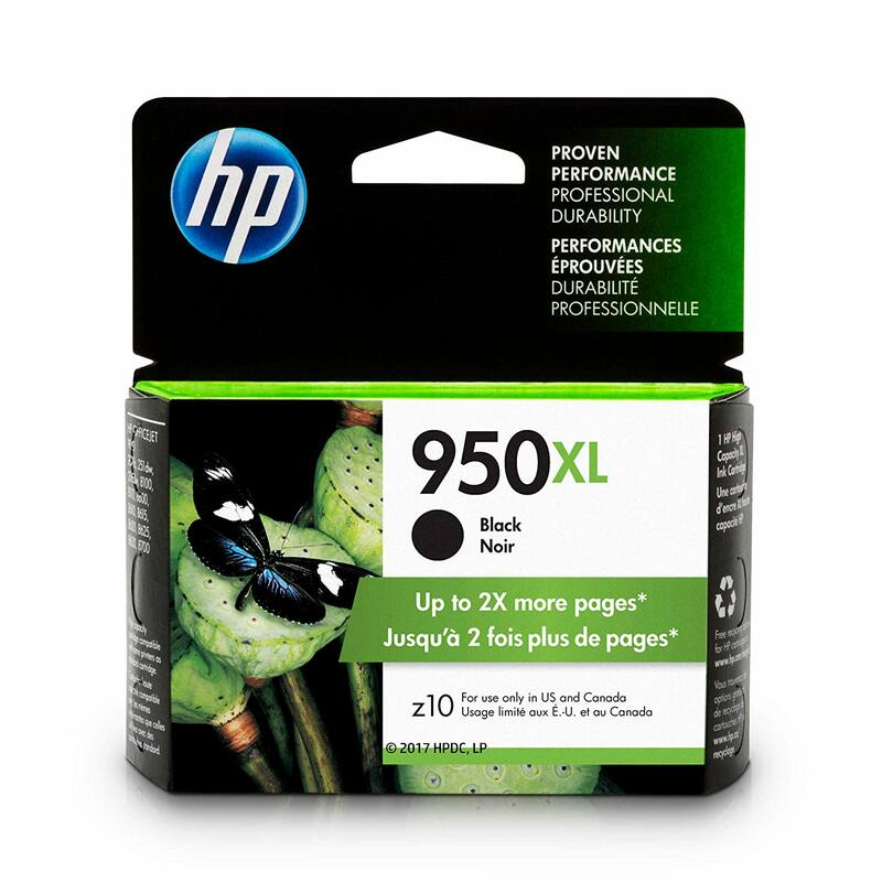 HP 950XL Black Ink Cartridge (CN045AN)