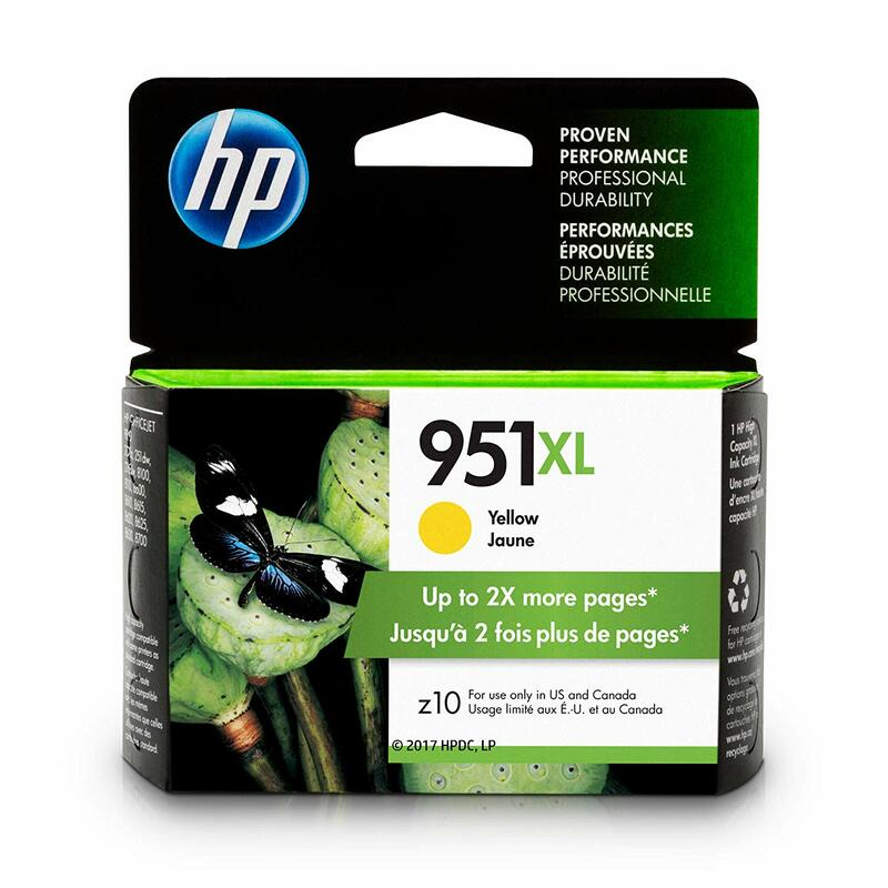 HP 951XL Ink Cartridge Yellow (CN048AN)