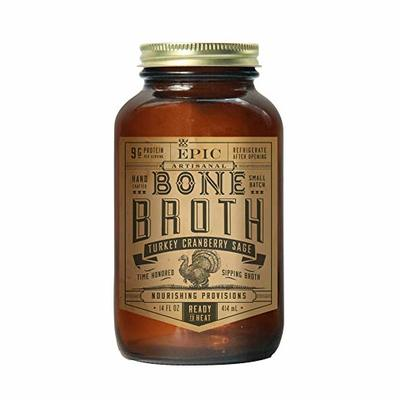 Epic Artisanal Bone Broth, Turkey Cranberry Sage, 14 Ounce (Pack of 6)