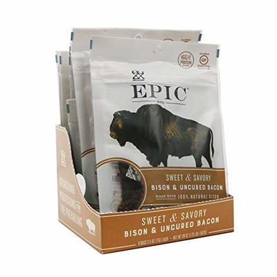 Epic Jerky Bites, 100% Natural, Bison, Bacon & Chia, 2.5 ounce, 8 Count
