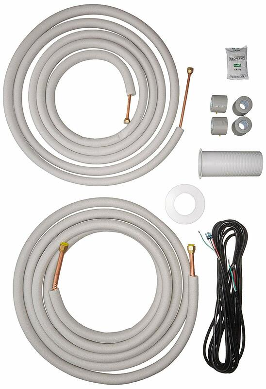 "Senville 25 Ft. Copper Pipes for Mini Split Air Conditioner 3/8"" & 5/8"" White"